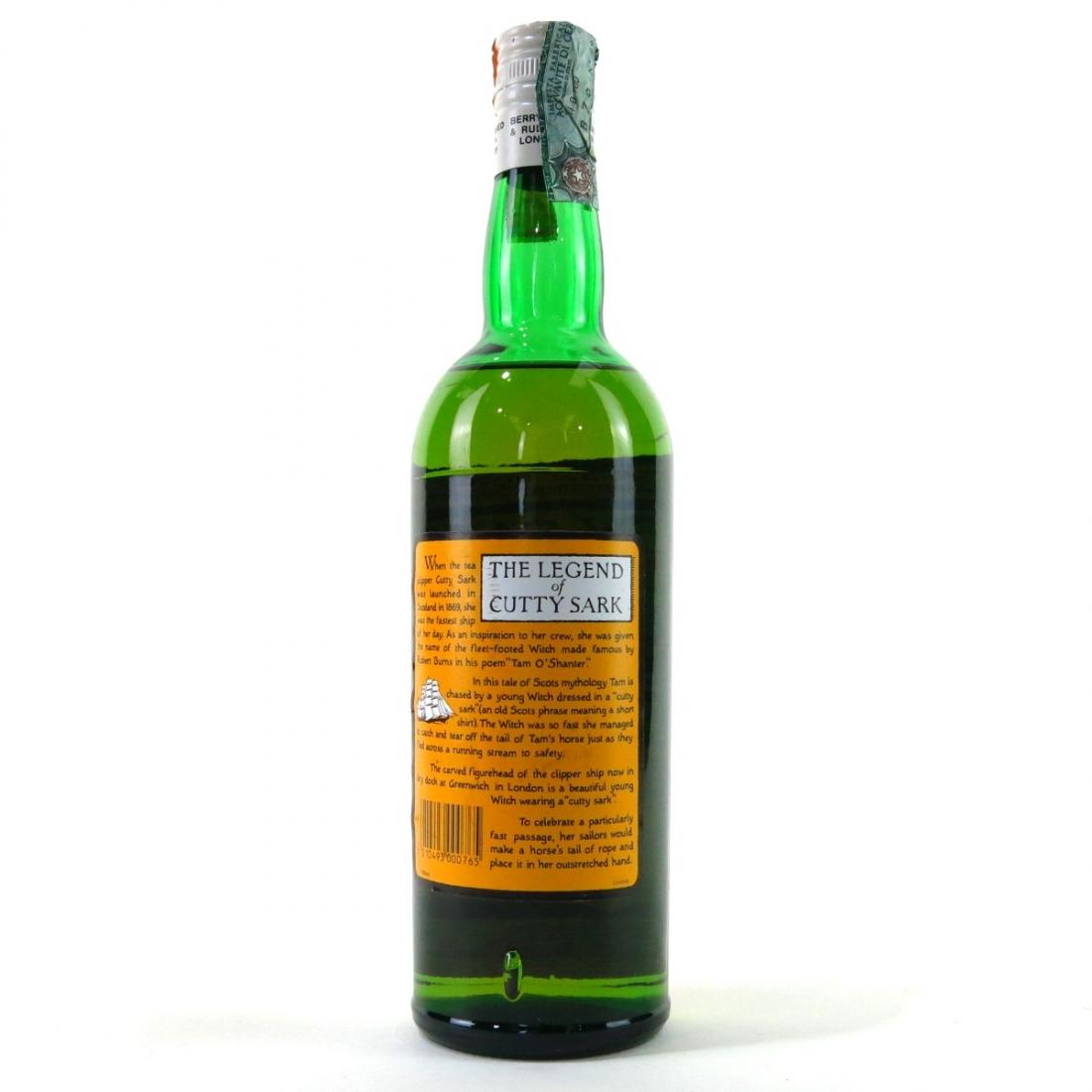 Cutty Sark Blended Scotch Whisky 1990s
