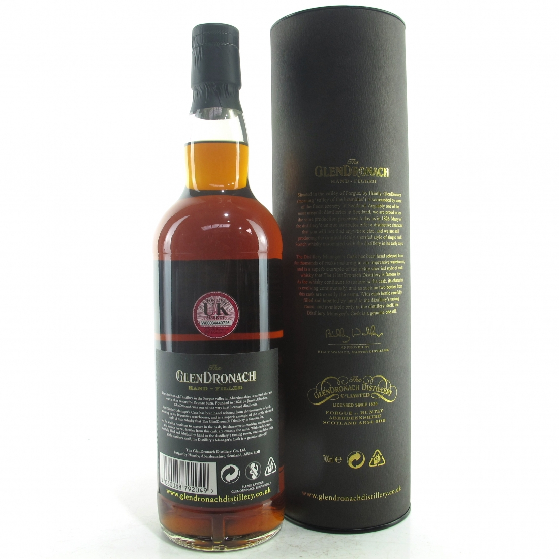Glendronach 1993 Hand Filled 25 Year Old Cask #698