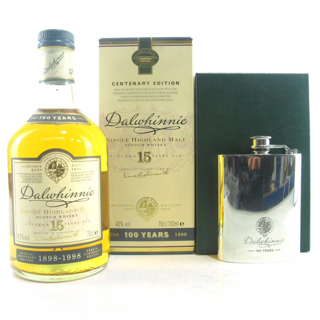 Dalwhinnie 15 Year Old Centenary Edition / Including Hip Flask