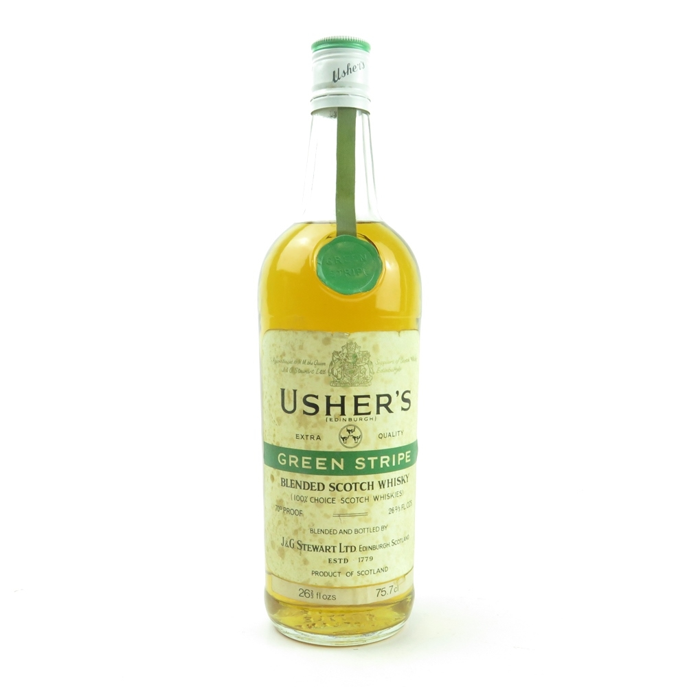 Usher's Green Stripe 1970s