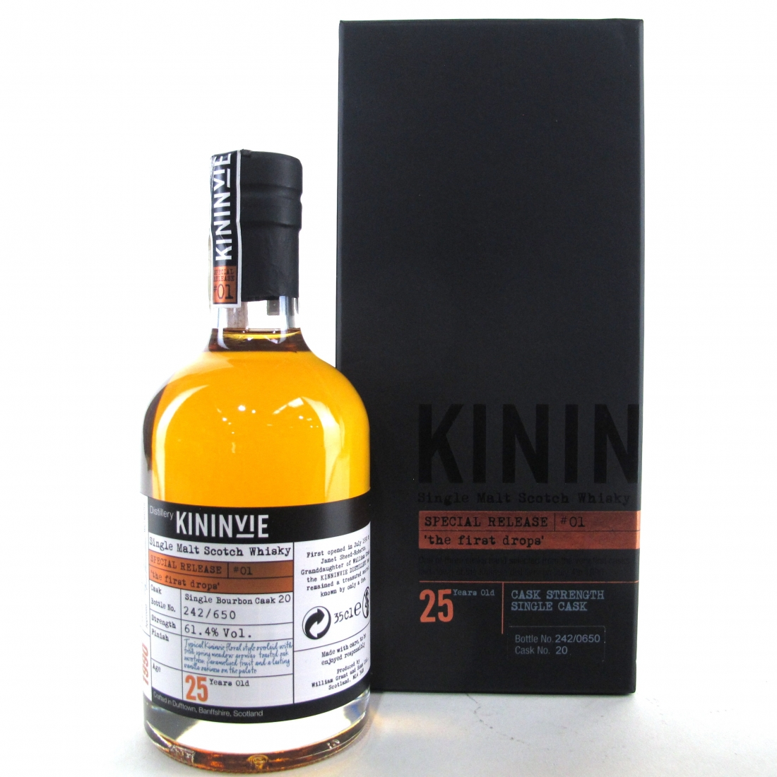 Kininvie 1990 The First Drop 25 Year Old Special Release #1 35cl