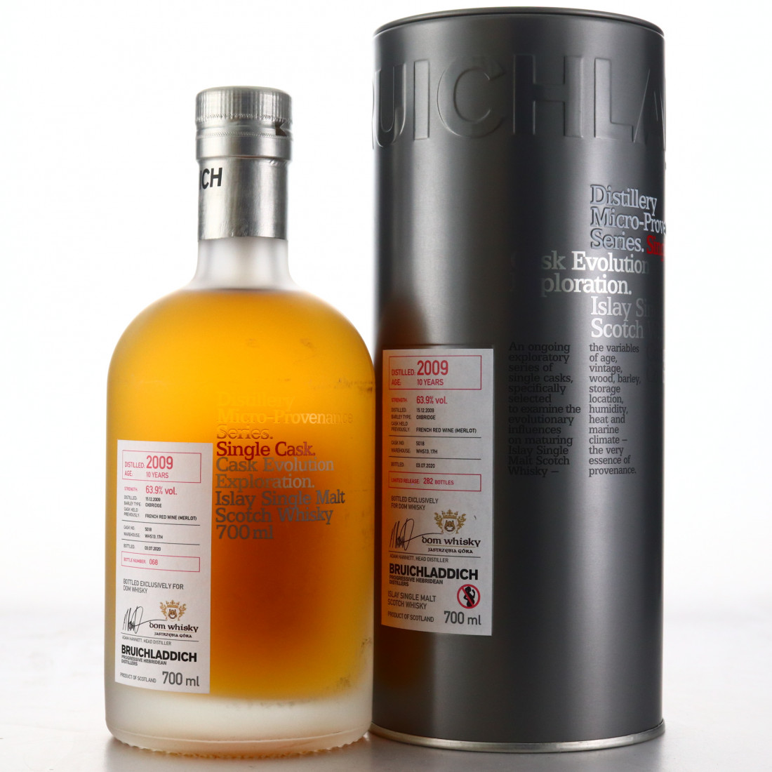 Bruichladdich 2009 Micro Provenance Single Merlot Cask 10 Year Old #5018 / Dom Whisky