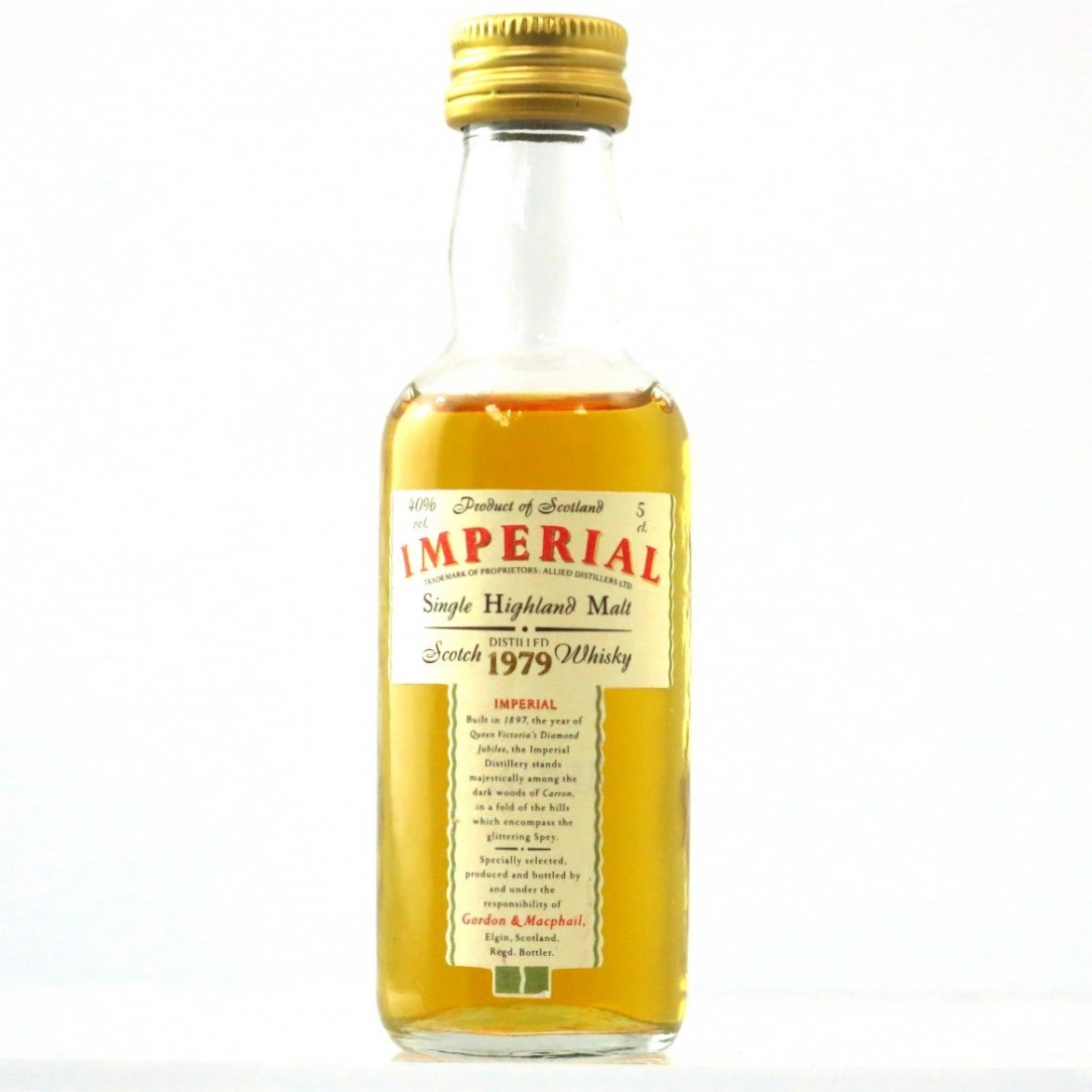 Imperial 1979 Gordon and MacPhail Miniature 5cl