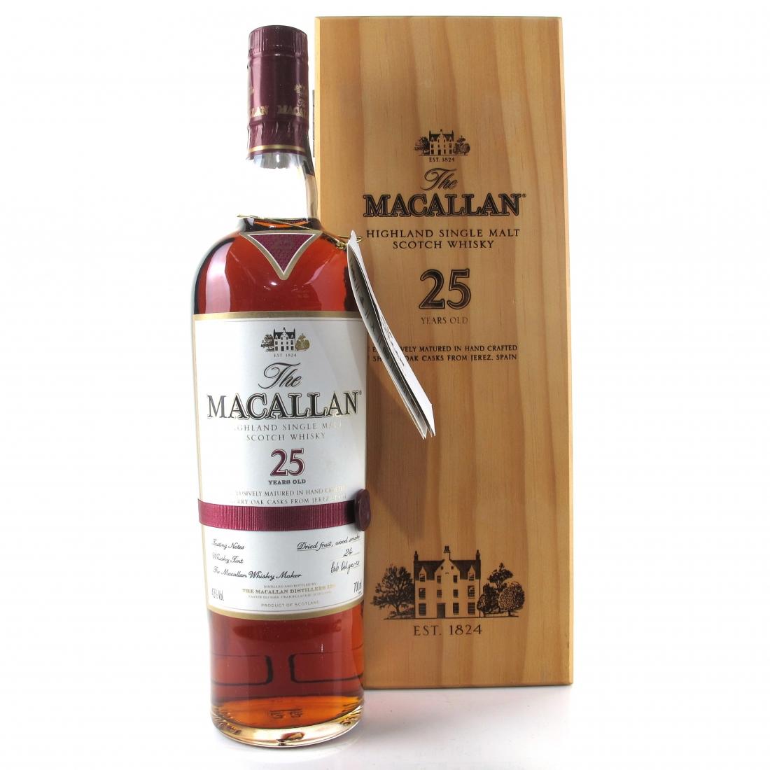 Macallan 25 Year Old Sherry Oak