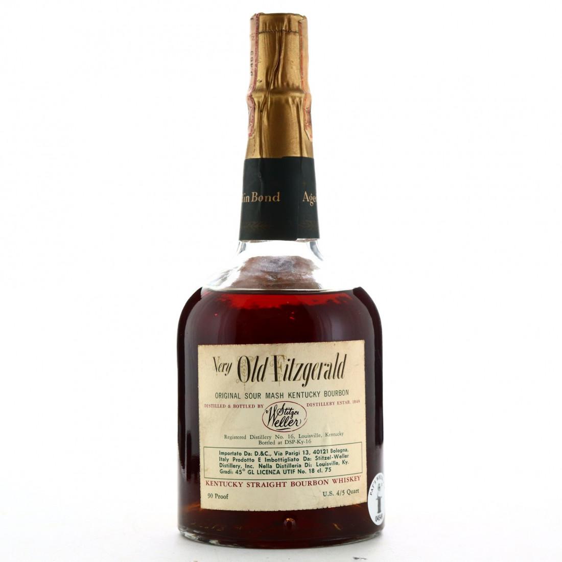 Very Old Fitzgerald 1963 Bottled in Bond 8 Year Old 90 Proof / Stitzel-Weller