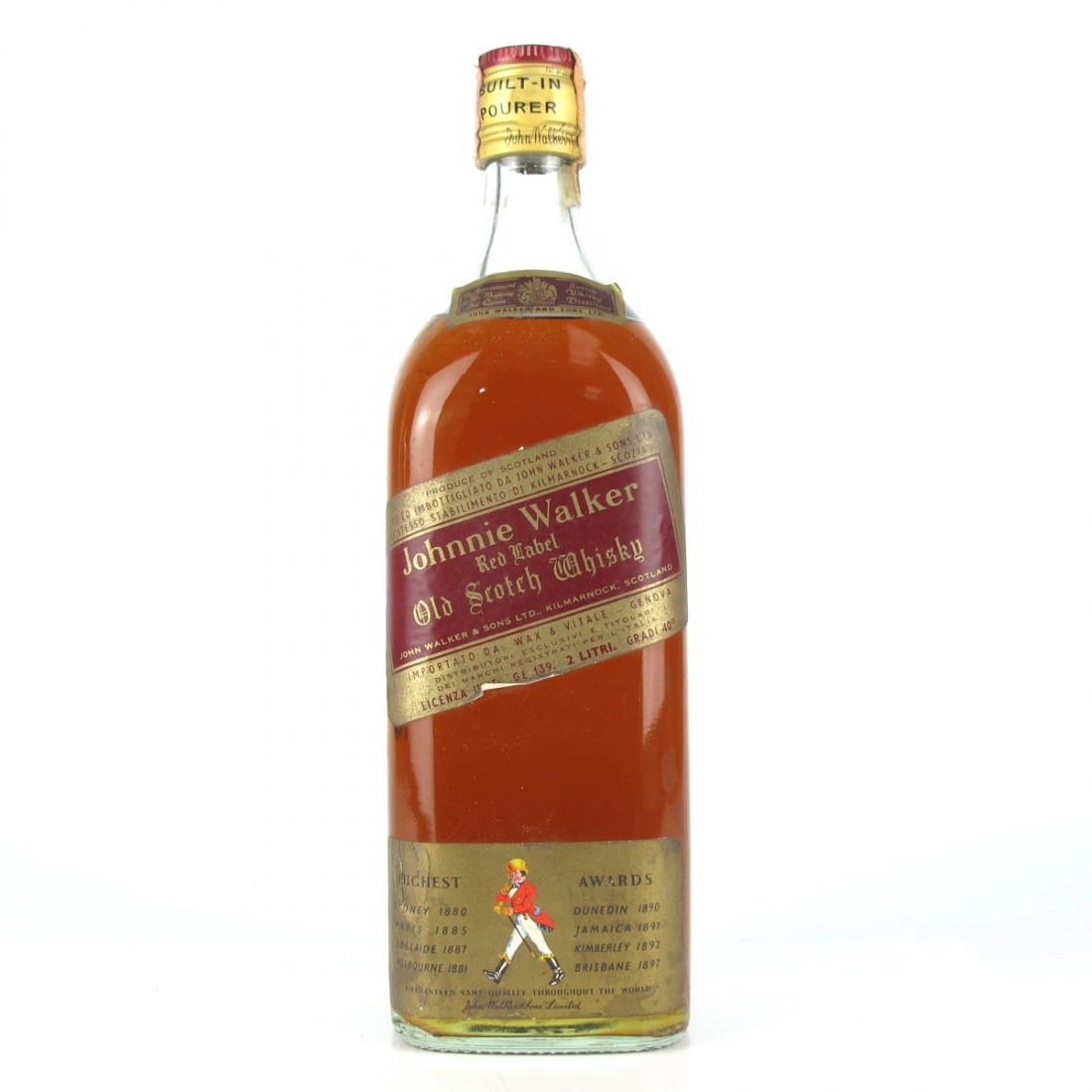 Johnnie Walker Red Label 2 Litre 1970s / Wax & Vitale Import