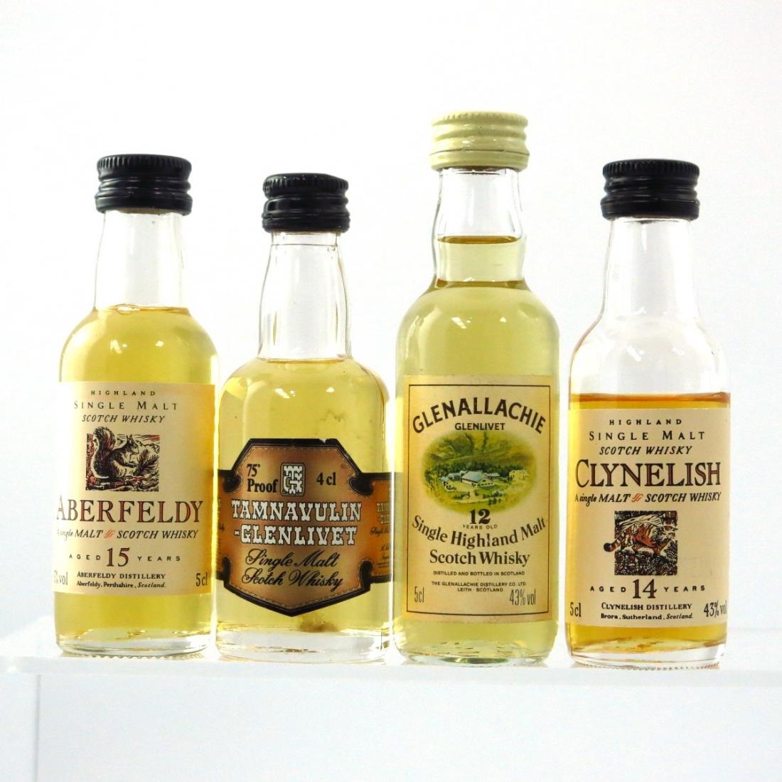 Single Malt Miniatures x 4 / includes Glenallachie 12 Year Old