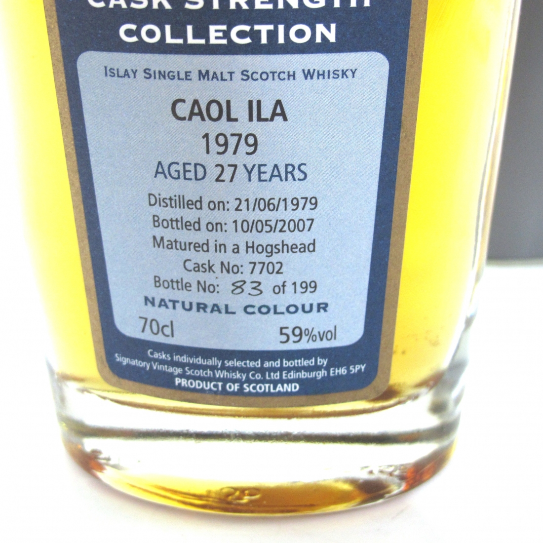 Caol Ila 1979 Signatory Vintage 27 Year Old