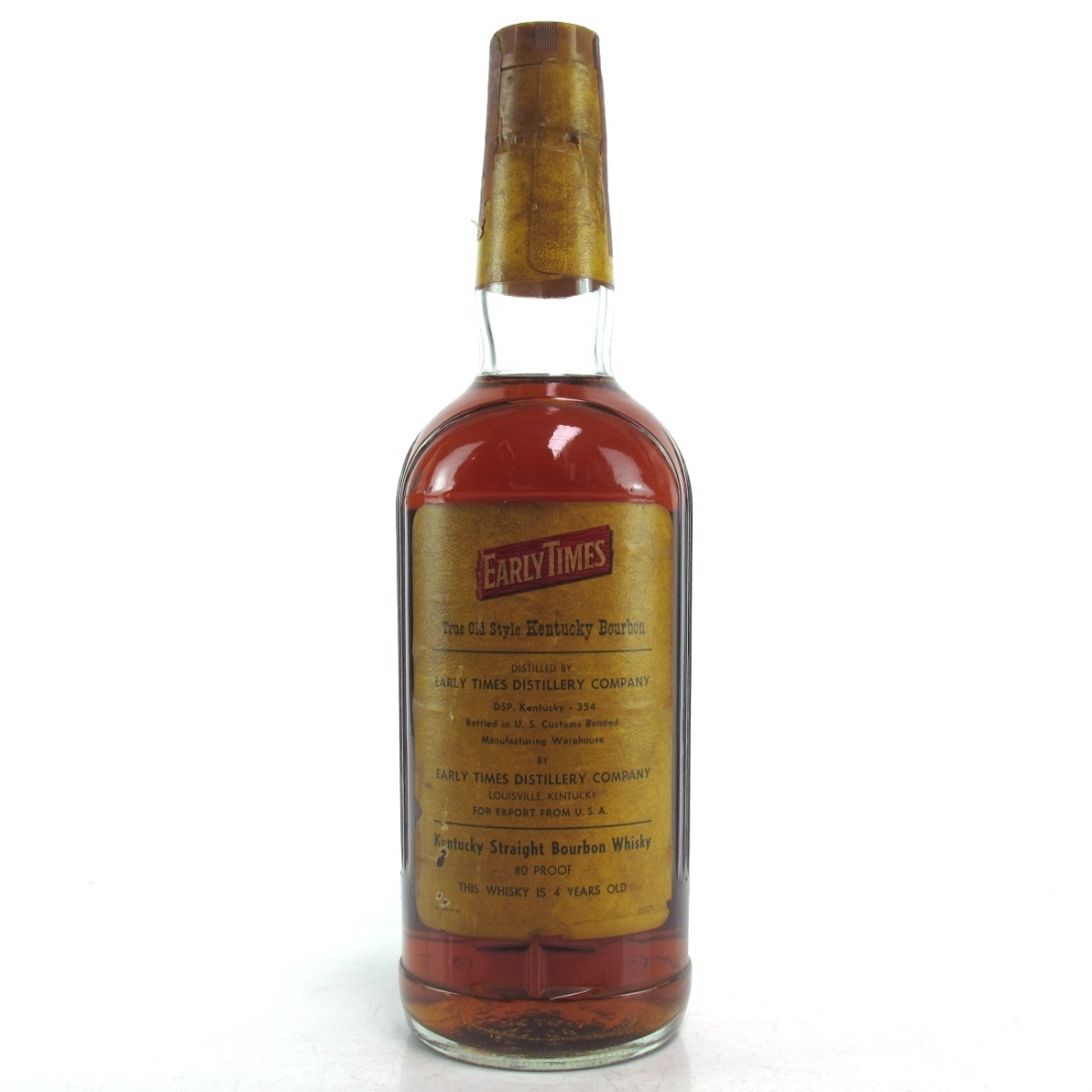 Early Times 4 Year Old Bourbon 1970s / Soffiantino Import