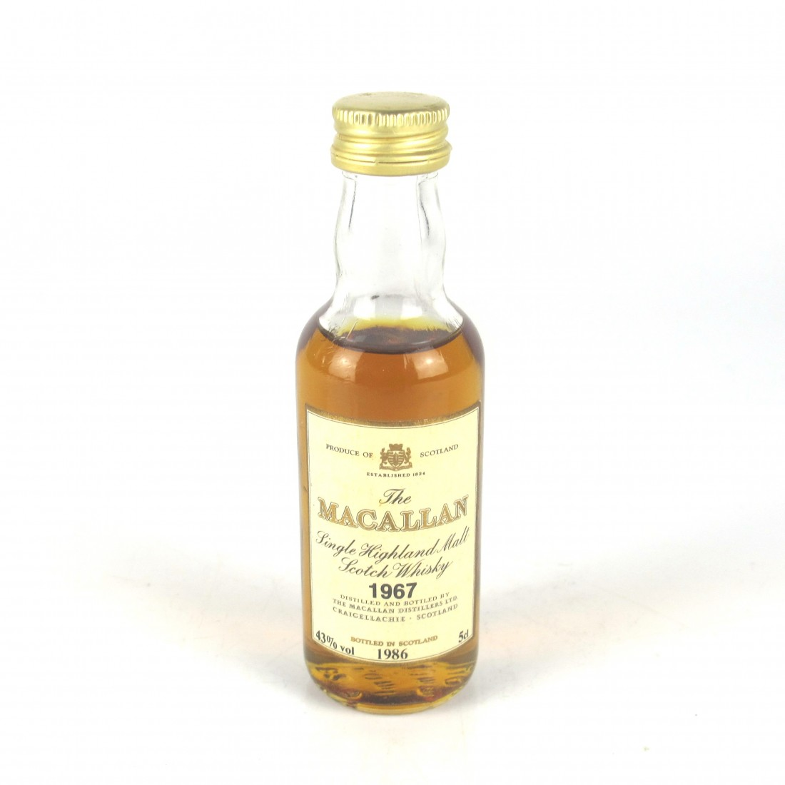 Macallan 18 Year Old 1967 Miniature 5cl