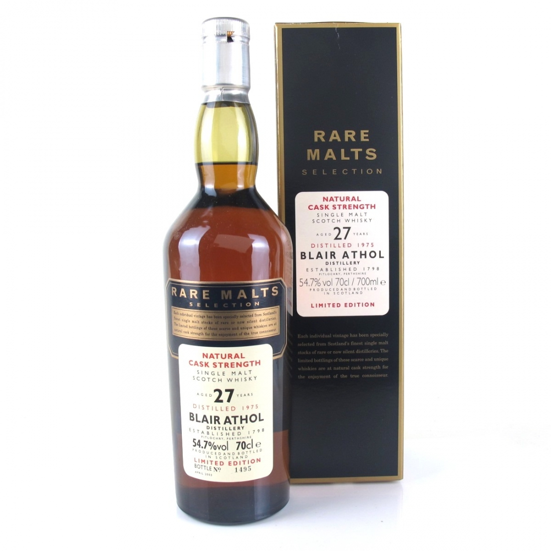 Blair Athol 1975 Rare Malt 27 Year Old / 54.7%