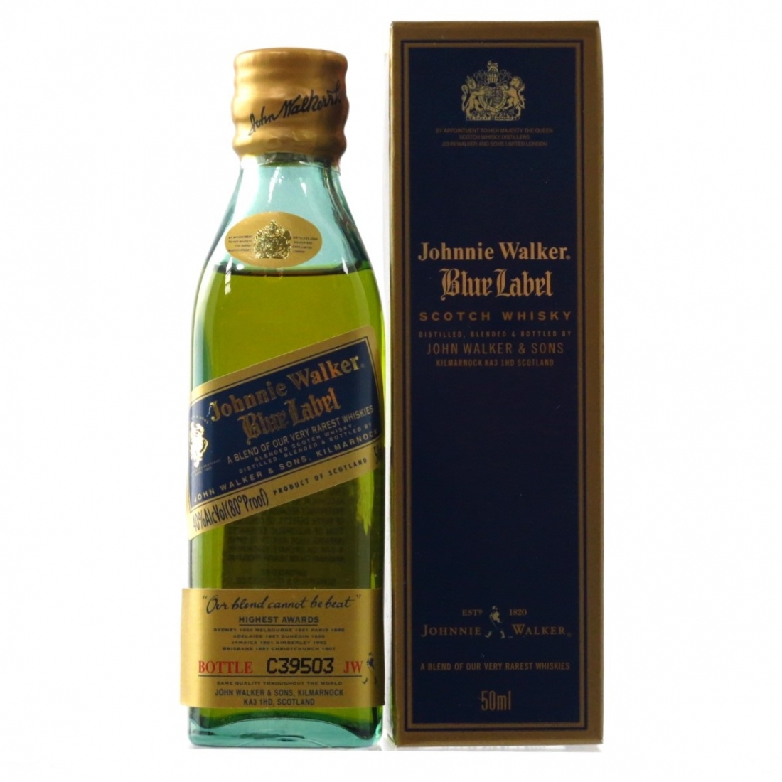 Johnnie Walker Blue Label Miniature 5cl / US Import