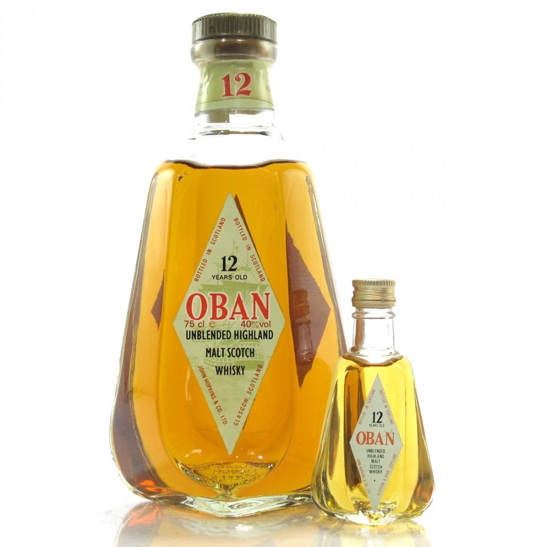 Oban 12 Year Old 1980s / with Miniature