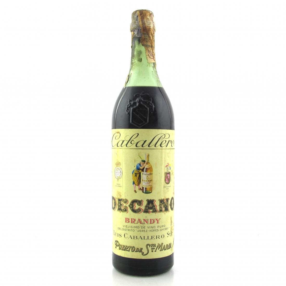 Caballero Decano Brandy 1960s