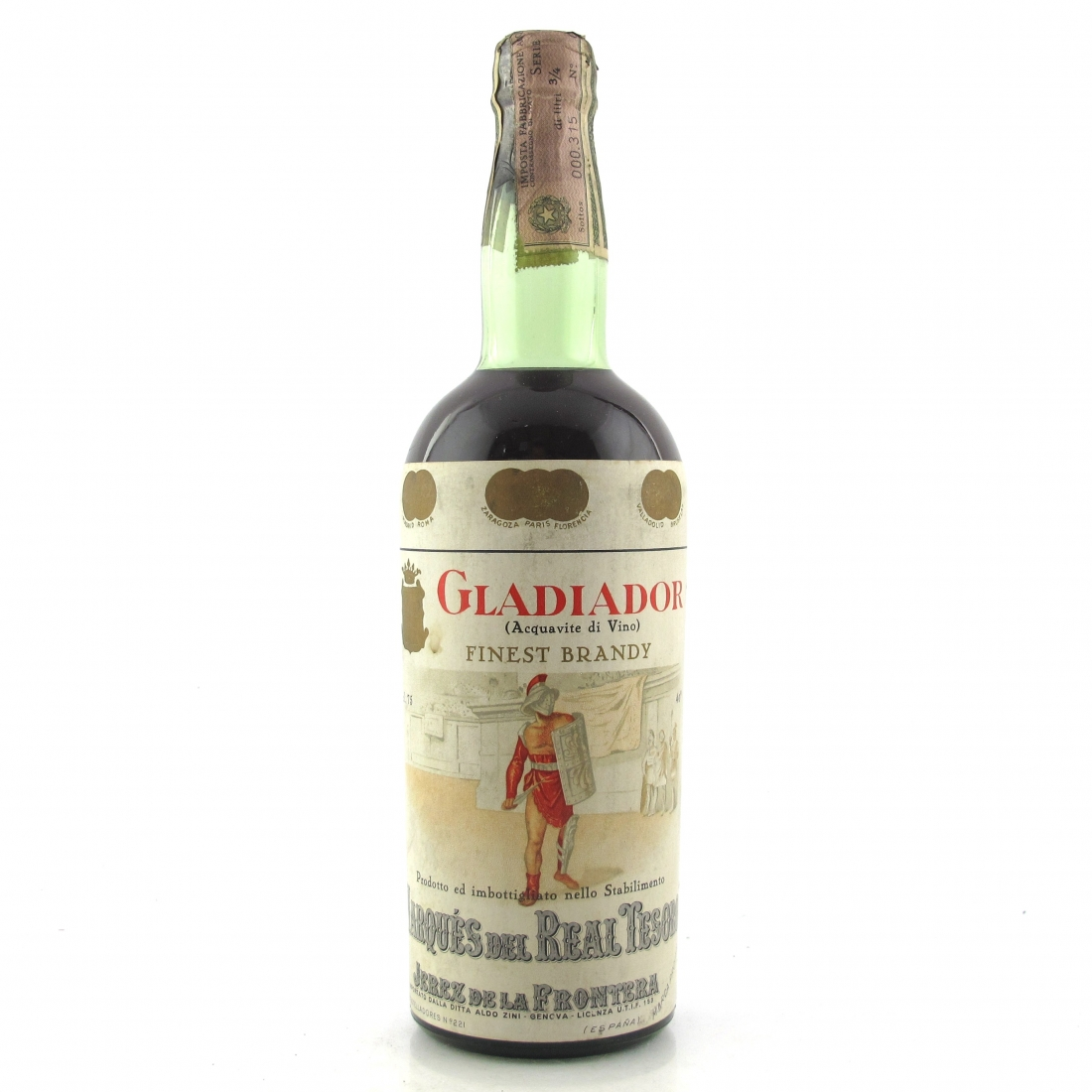 Gladiator Finest Brandy 1960s
