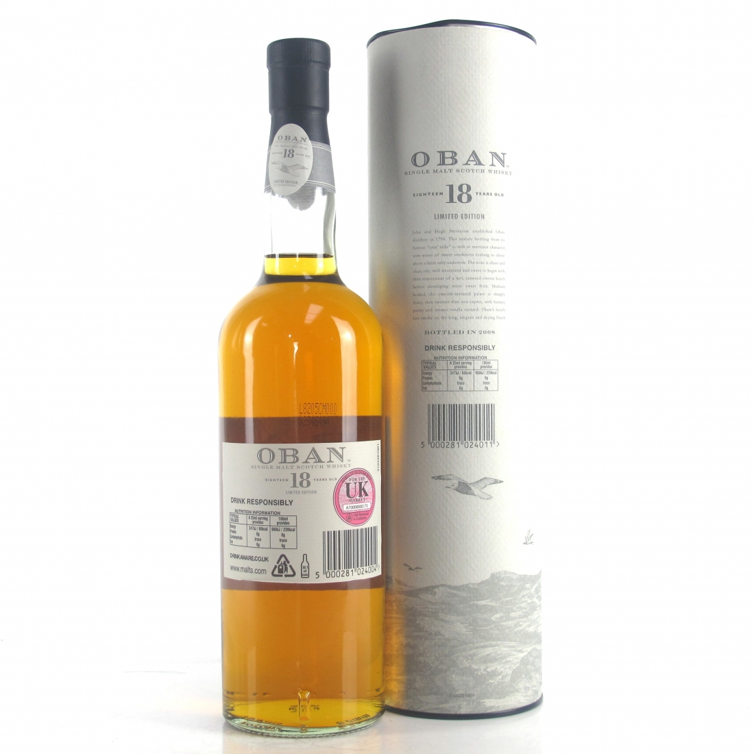 Oban 18 Year Old Limited Edition / Bottle #0003