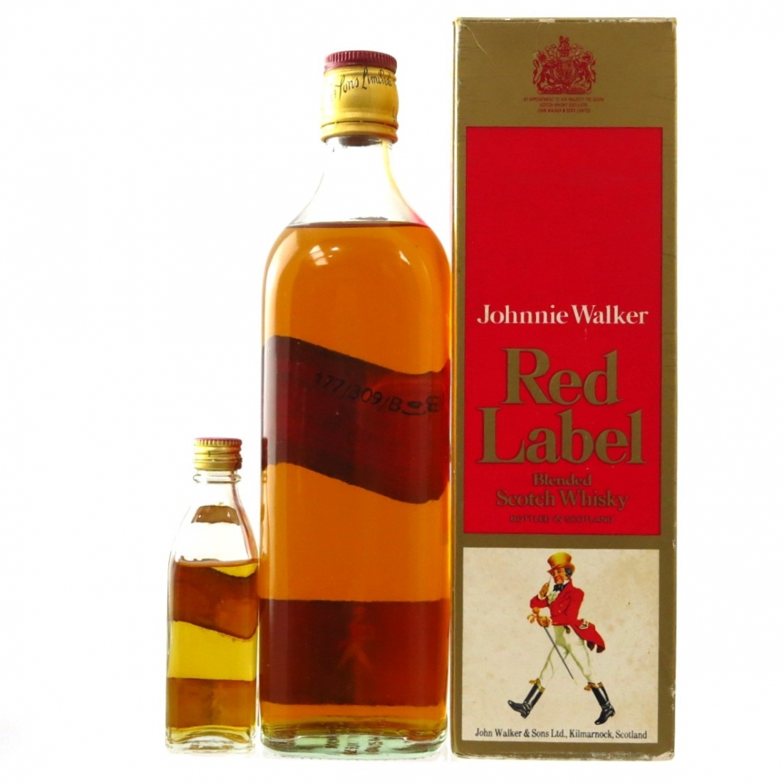 Johnnie Walker Red Label 1970s / with Miniature