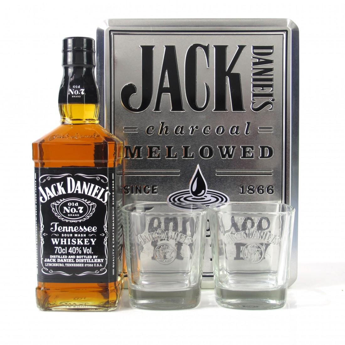 Jack Daniel's Old No.7 Gift Set / Including 2 Glasses