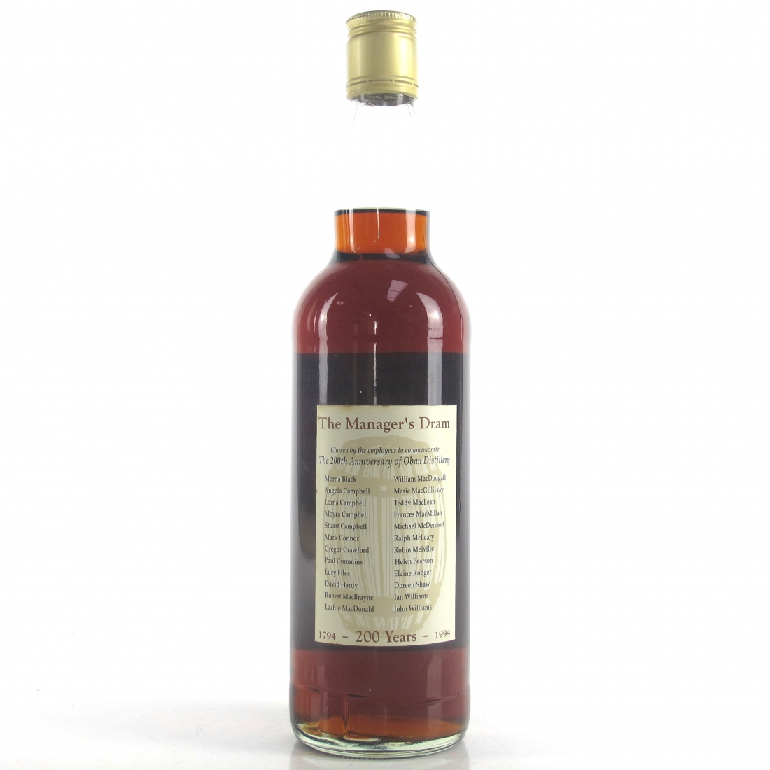 Oban 16 Year Old Manager's Dram Bicentenary 1994
