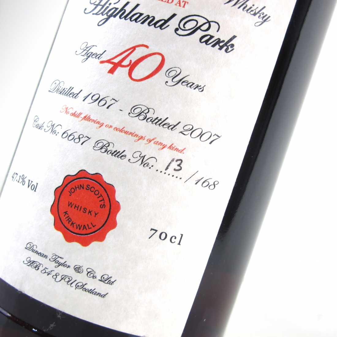 Highland Park 1967 John Scott's 40 Year Old
