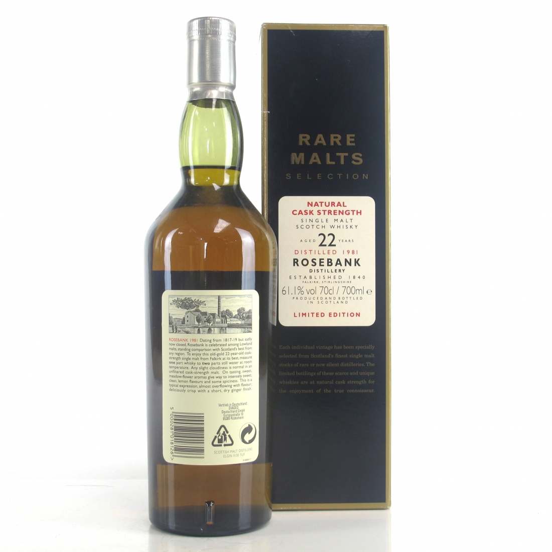 Rosebank 1981 Rare Malt 22 Year Old / 61.1%