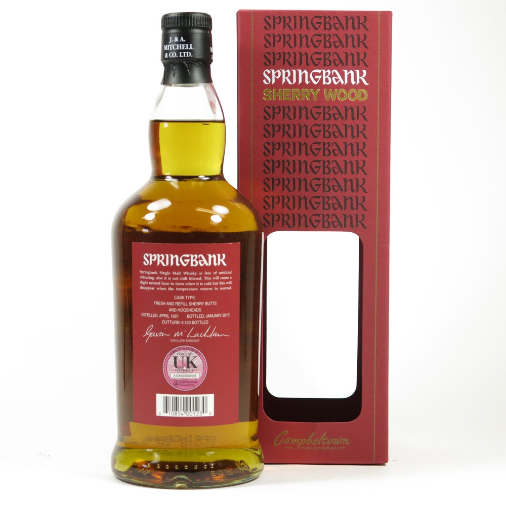 Springbank 17 Year Old Sherry Wood Back