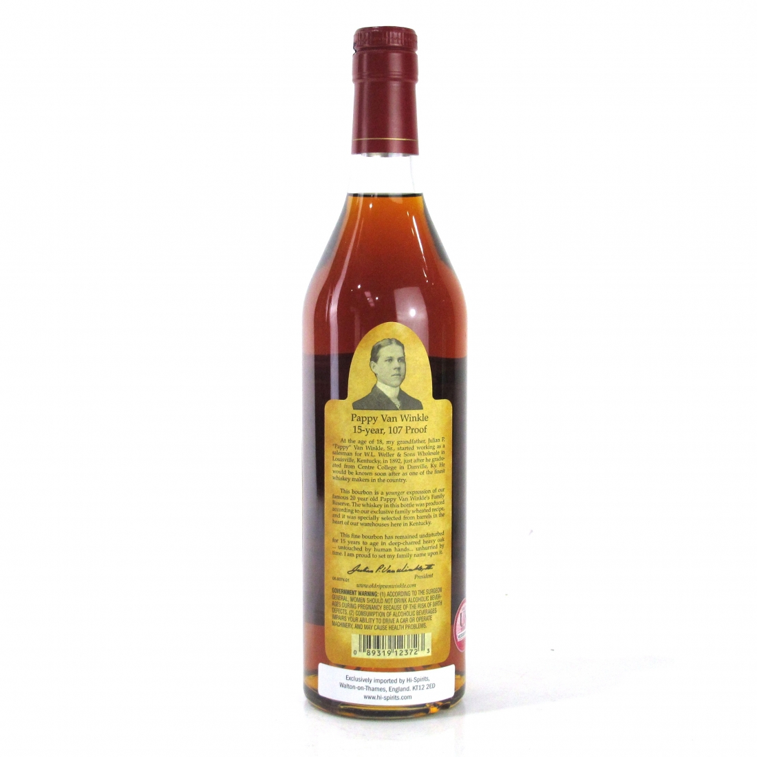Pappy Van Winkle 15 Year Old Family Reserve