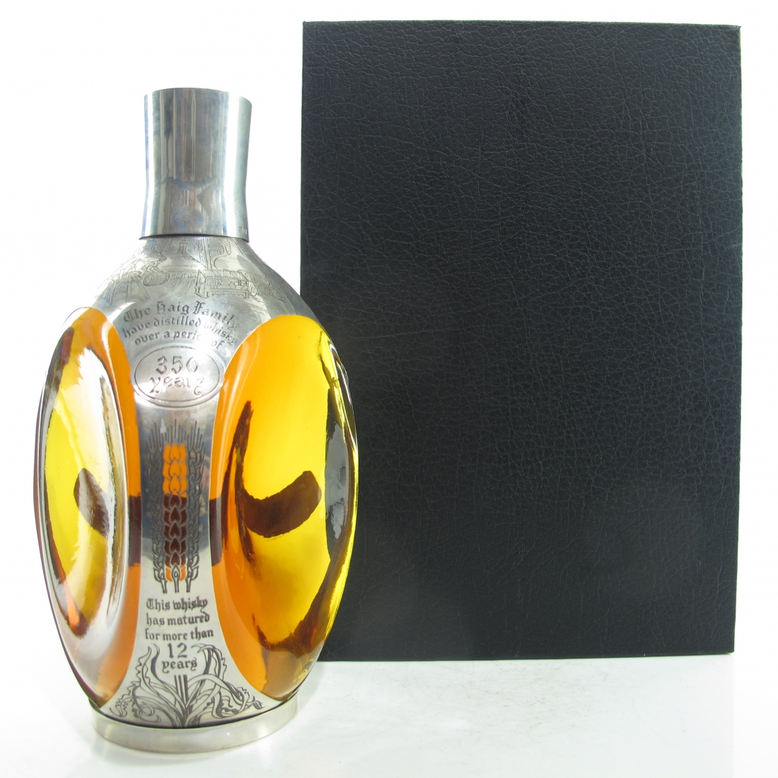 Haig's Dimple 12 Year Old Sterling Silver Decanter / 350th Anniversary