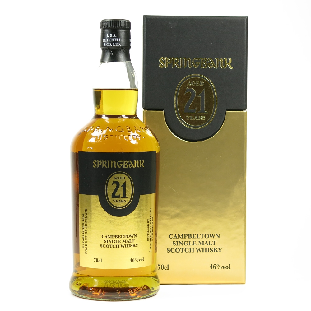 Springbank 21 Year Old Front