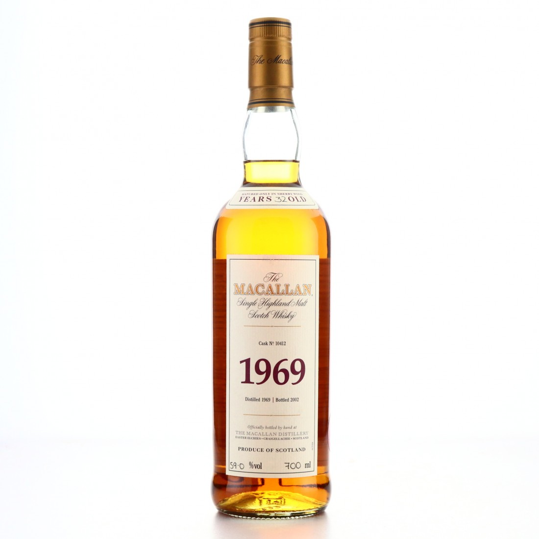 Macallan 1969 Fine and Rare 32 Year Old #10412