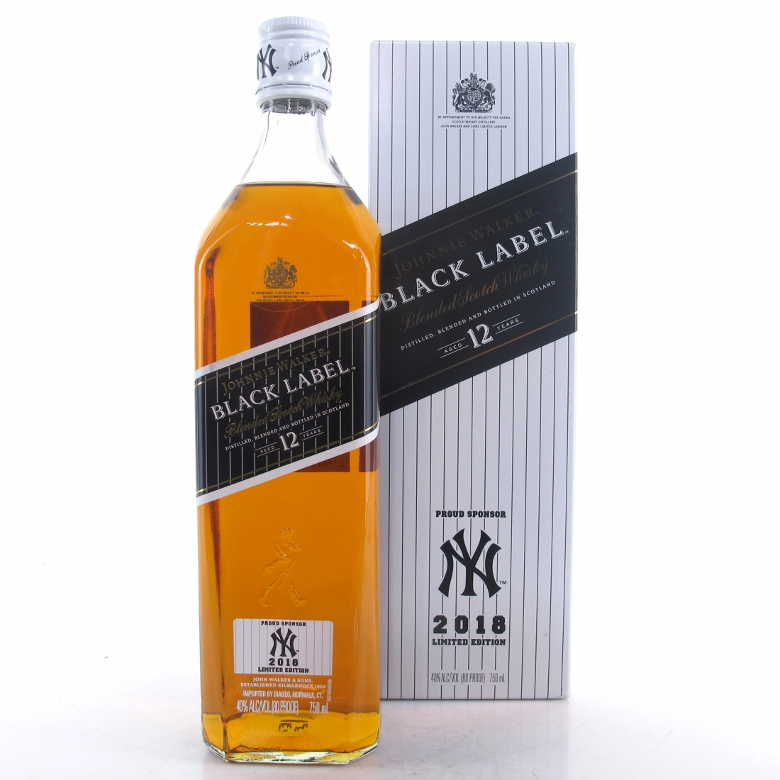 Johnnie Walker Black Label 12 Year Old 75cl / New York Yankees 2018
