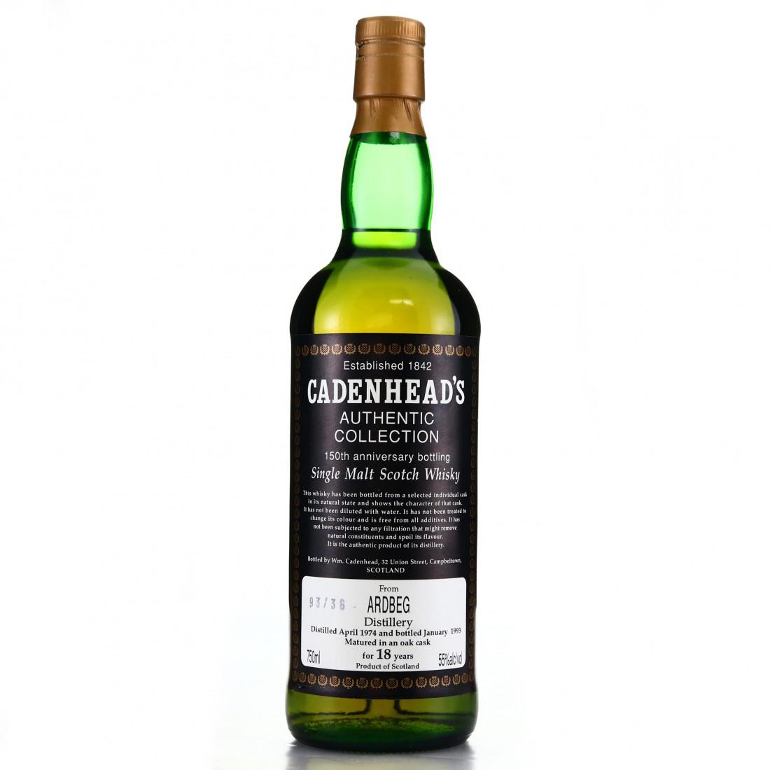 Ardbeg 1974 Cadenhead's 18 Year Old / 150th Anniversary