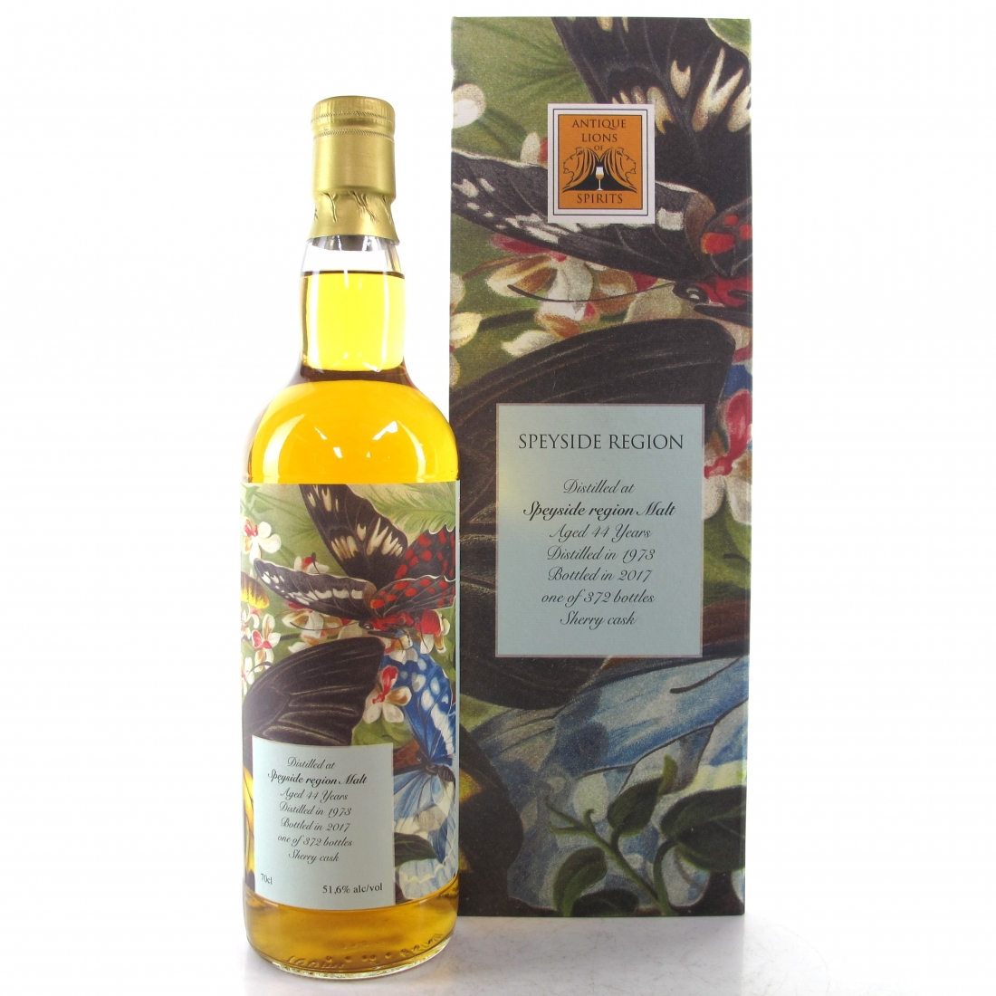 Speyside Single Malt 1973 Antique Lions 44 Year Old / The Butterflies