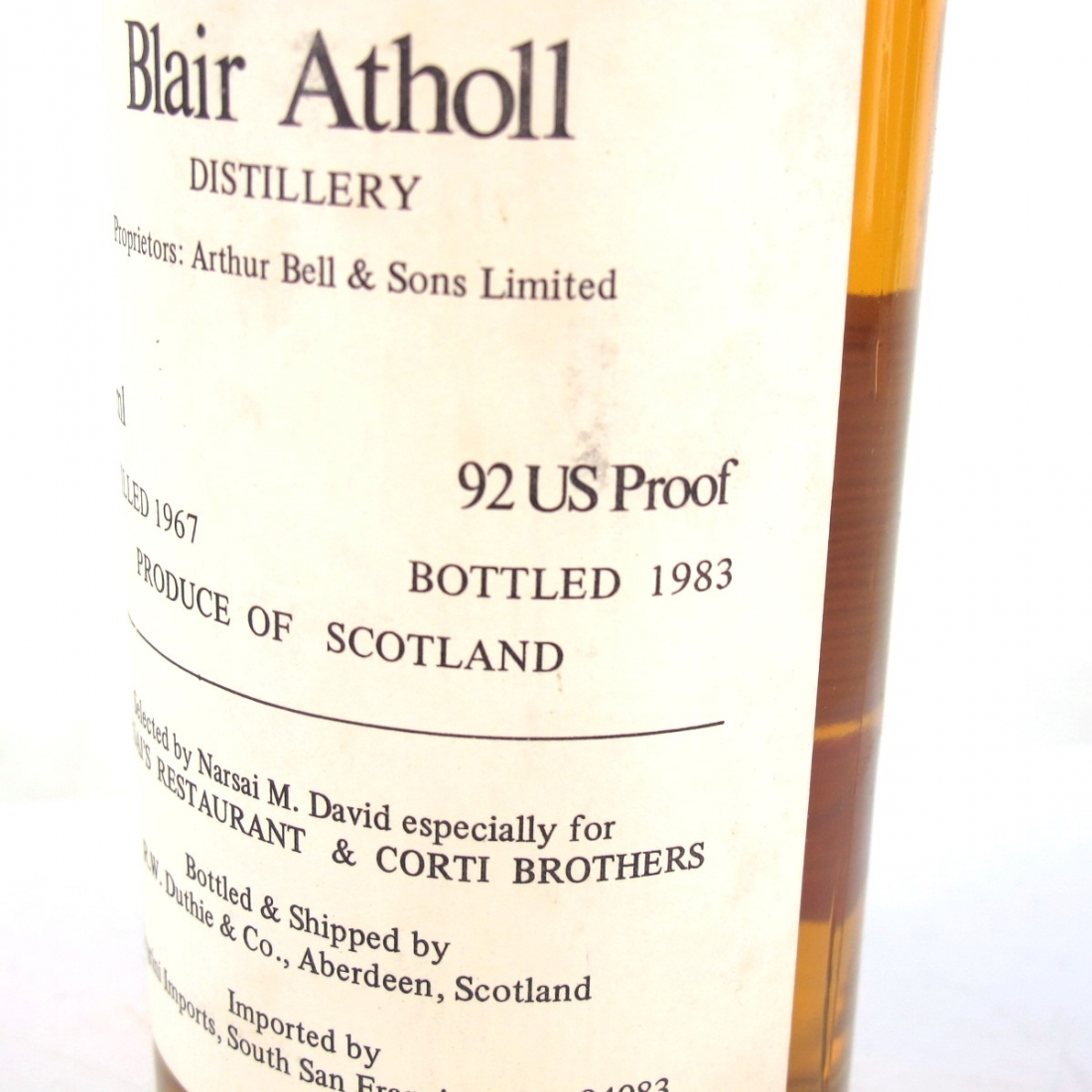 Blair Athol 1967 Duthie for Corti 75cl / US Import