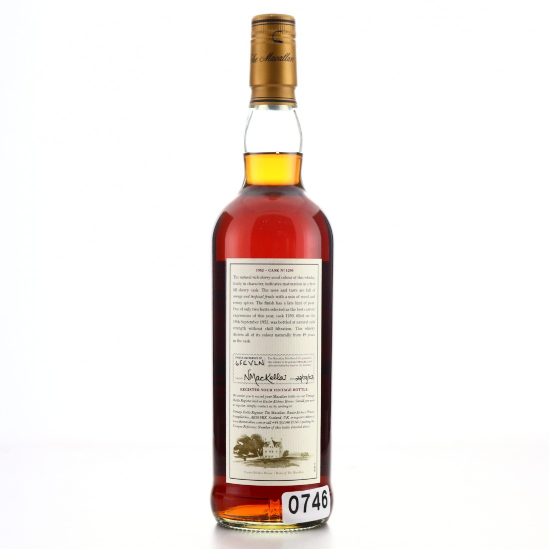 Macallan 1952 Fine and Rare 49 Year Old #1250