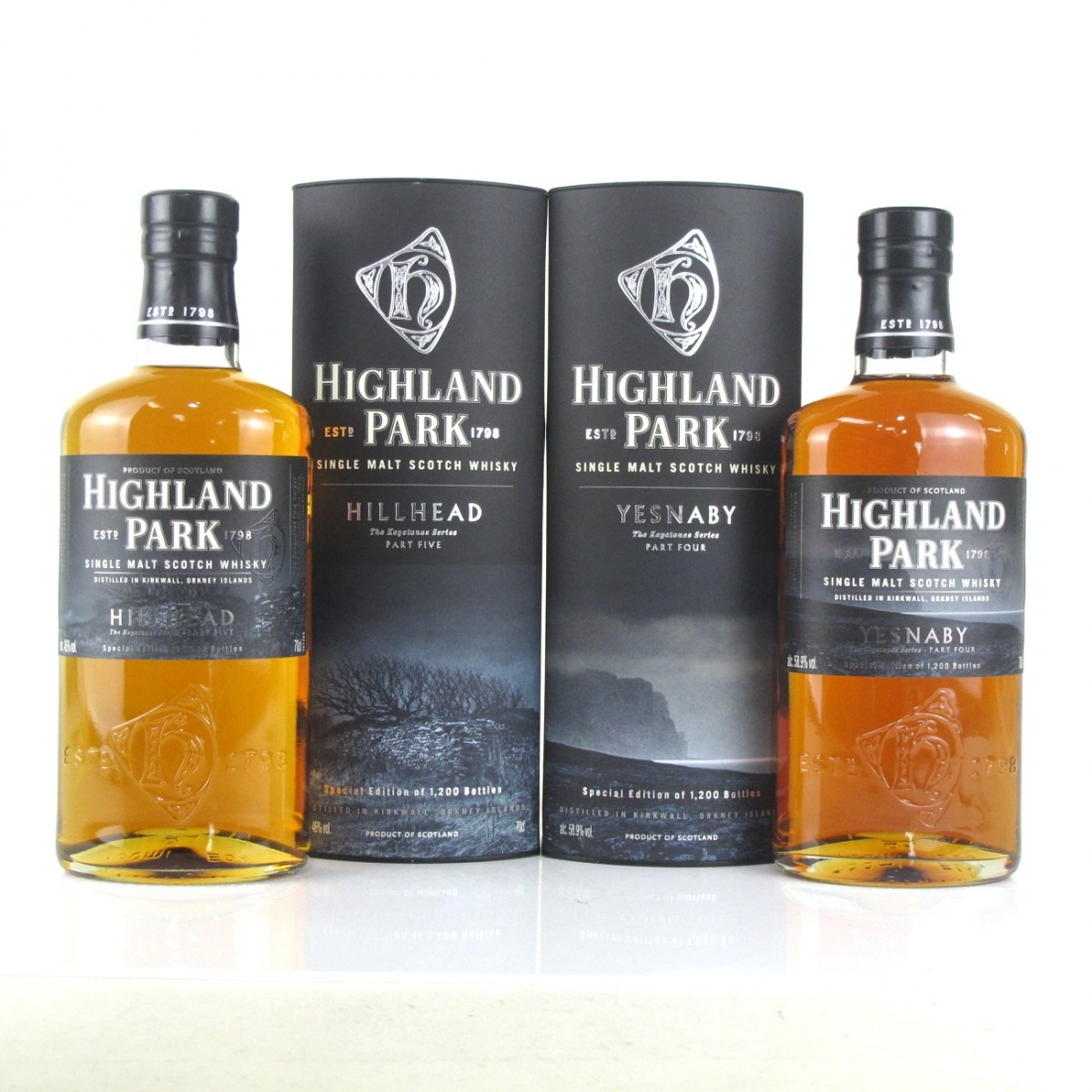 Highland Park Keystones Series 2 x 70cl / Yesnaby and Hillhead