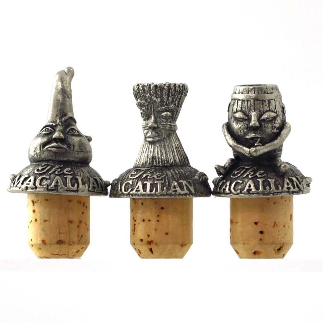 Macallan Pewter Stoppers x 3