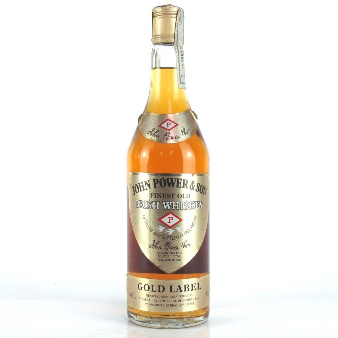 John Power & Sons Gold Label Irish Whiskey 1980s