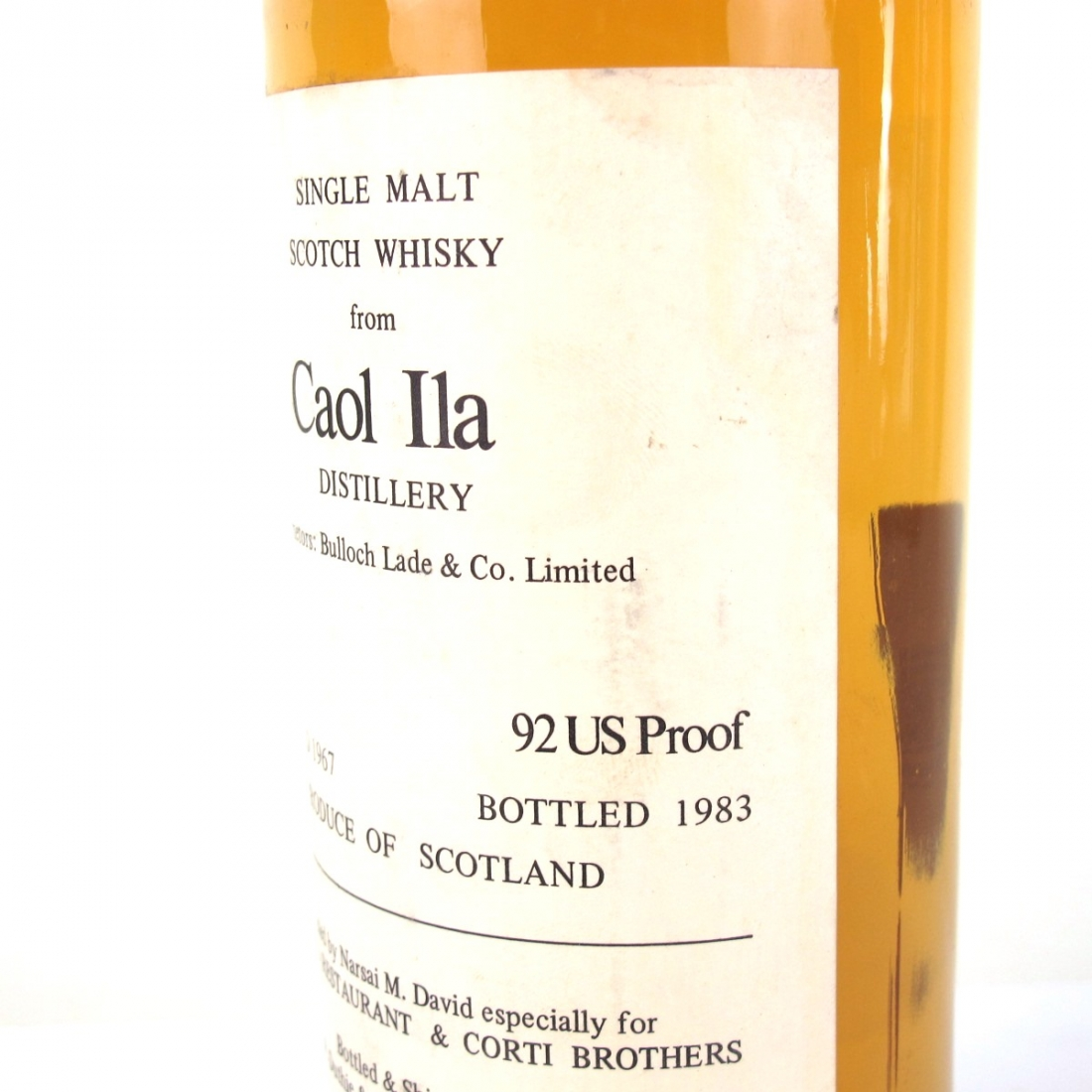 Caol Ila 1967 Duthie for Corti 75cl / US Import