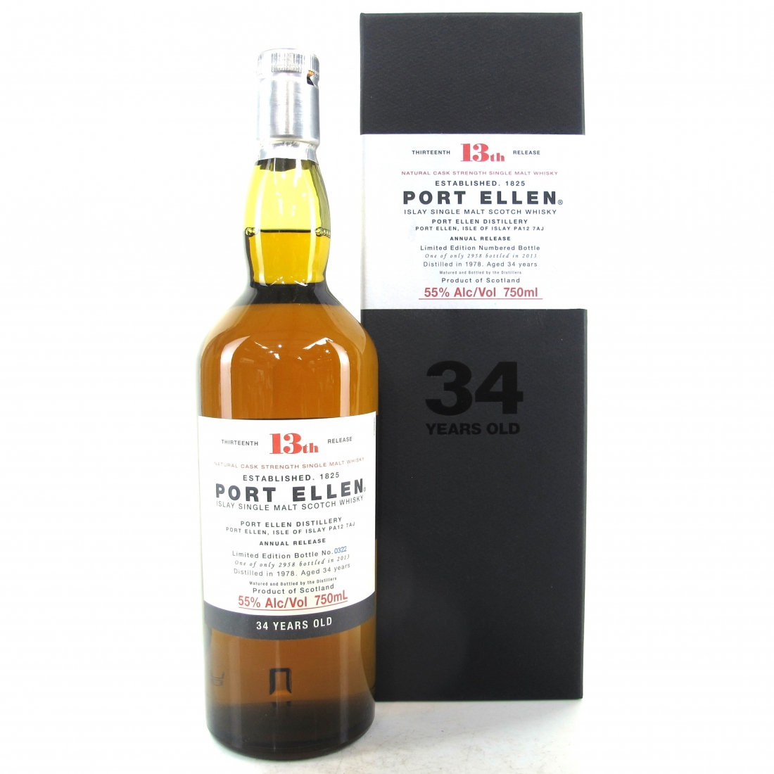 Port Ellen 1978 34 Year Old 13th Release 75cl / US Import