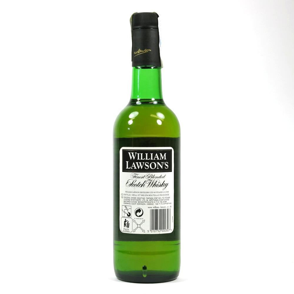 William Lawson's Finest Blended Whisky 1990s Back