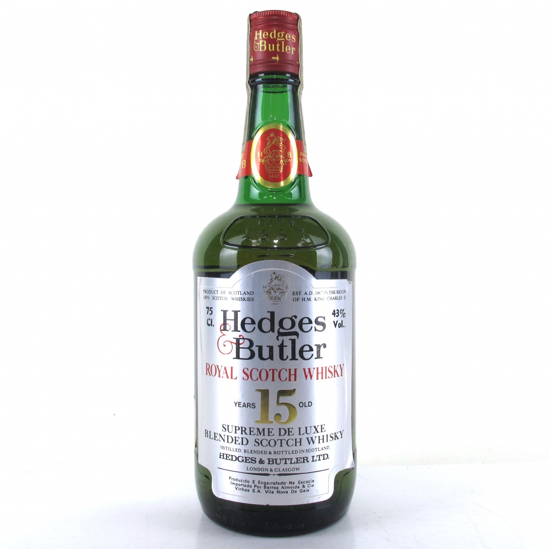 Hedges & Butler 15 Year Old Royal Scotch Whisky 1980s