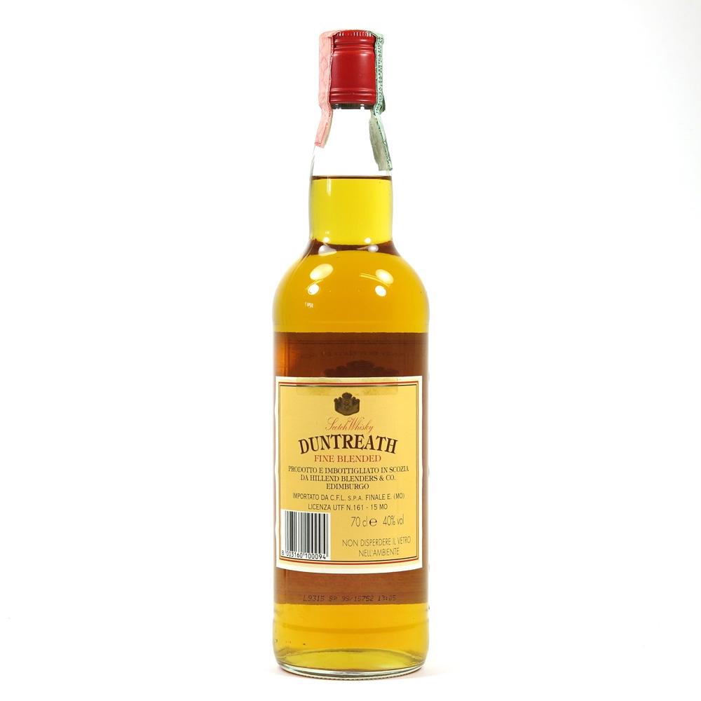 Duntreath Fine Blended Whisky back
