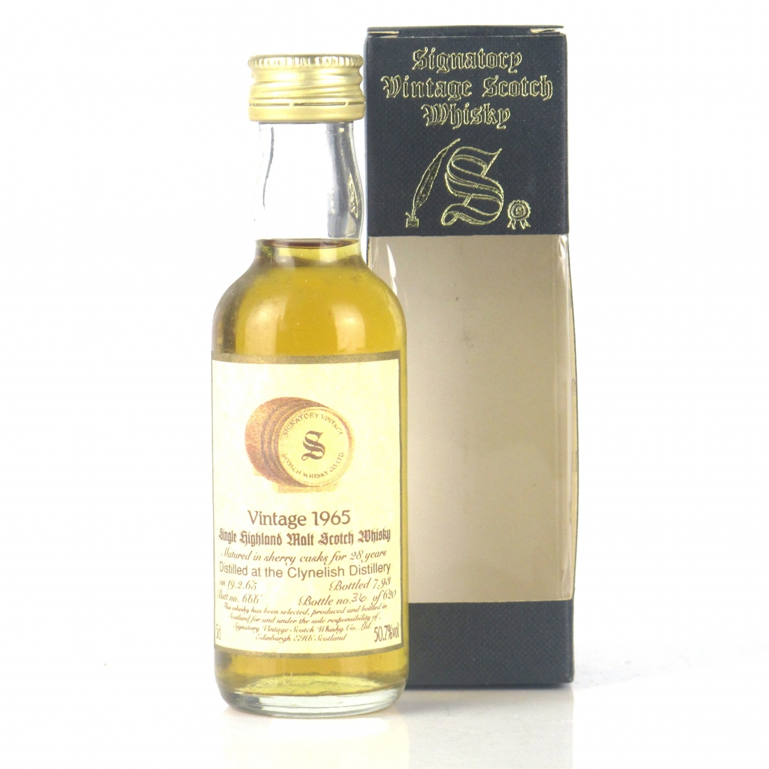 Clynelish 1965 Signatory Vintage 28 Year Old Miniature 5cl