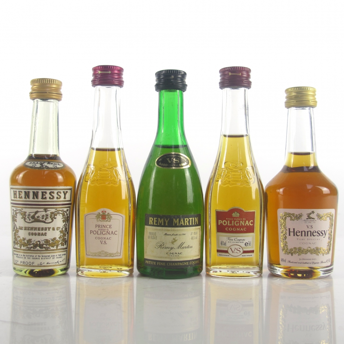Miscellaneous Cognac Miniatures Selection x 5