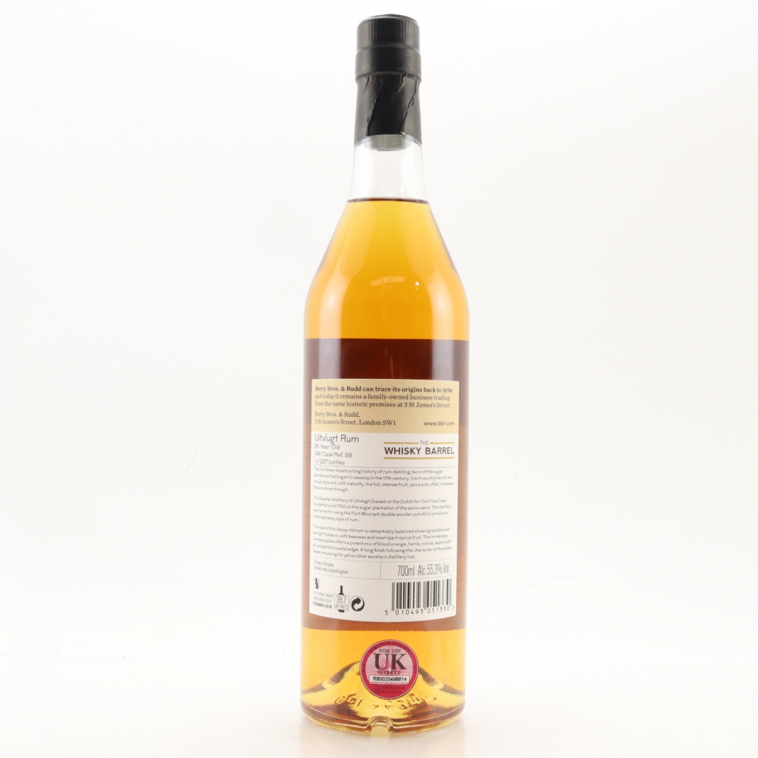 Uitvlugt 28 Year Old Berry Brothers and Rudd Rum / The Whisky Barrel