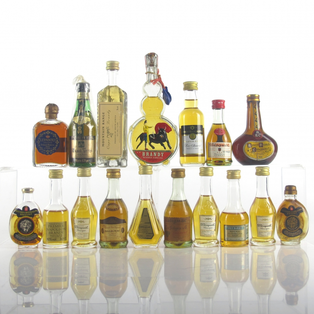 Miscellaneous Brandy Miniature Selection x 17