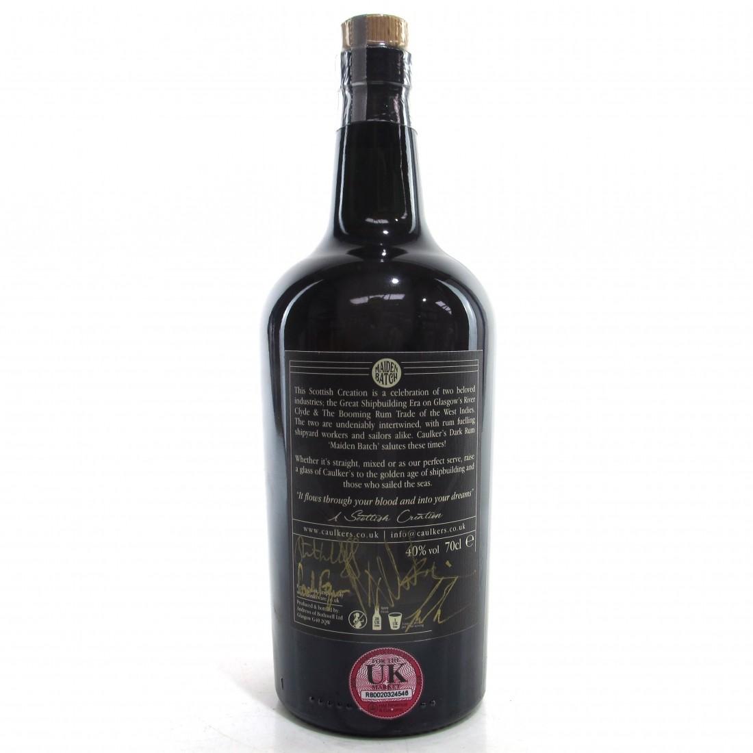 Caulker's Dark Rum Maiden Batch / Signed by Stuart Hogg