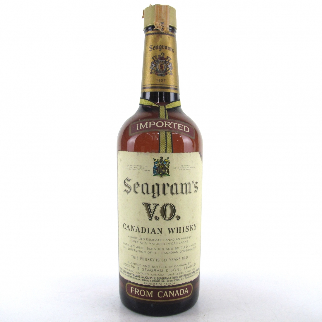 Seagram's VO 1974 Canadian Whisky