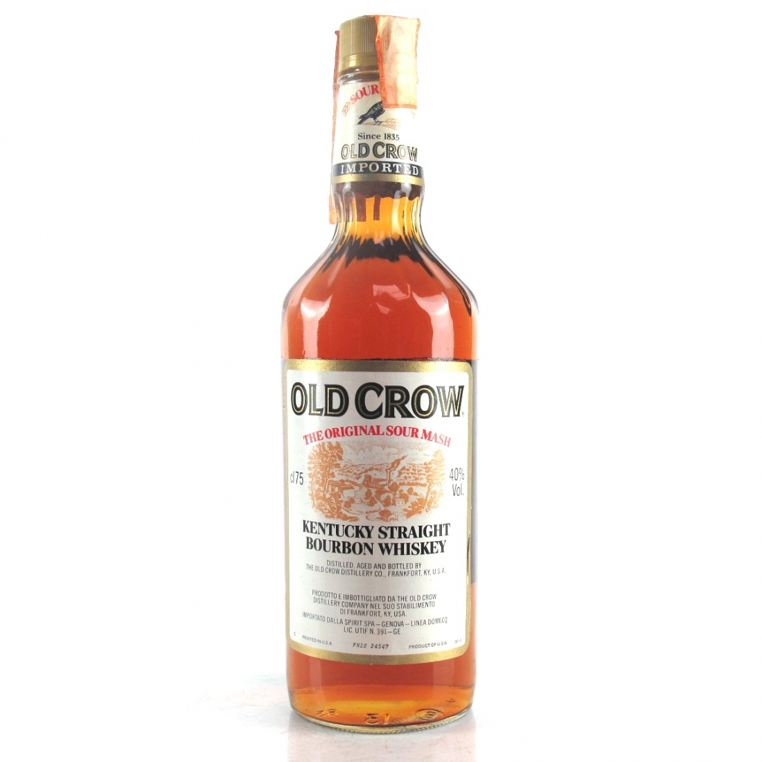 Old Crow Kentucky Straight Bourbon 1980s